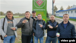 Workers at petroleum company Belorusneft who were fired after supporting the national strike.