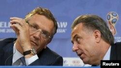 Жером Вальке с министром спорта РФ Виталием Мутко