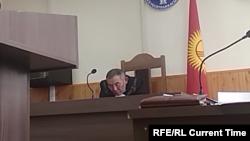 Кадр видеозаписи с заседания суда