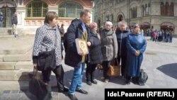 Вкладчики Татфондбанка на акции в центре Москвы