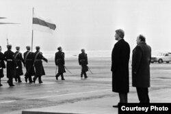 Президент США Билл Клинтон в Минске, 15 января 1994 года
