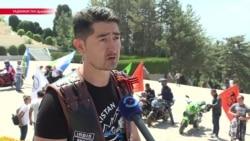 """В кругосветку ради """"солнечных детей"""": байкер из Таджикистана хочет объехать весь мир"""