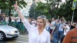 Вероника Цепкало в Минске 6 августа 2020 года