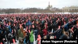 Собрание по выдвижению политика Алексея Навального в Петербурге, 24 декабря 2017 года