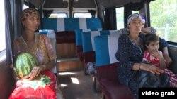 Жители приграничной зоны на границе Узбекистана и Кыргызстана