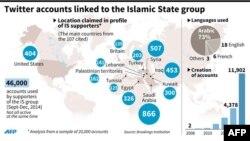 """Аккаунты сторонников """"Исламского государства"""" в Twitter"""