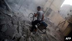 Пригород Дамаска после авиационного удара, 21 октября 2015