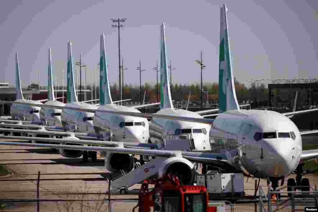 """Самолеты компании """"Трансавиа"""" в аэропорту """"Орли"""" в Париже, Франция. 4 апреля 2020 года"""