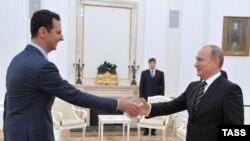 Башар Асад и Владимир Путин