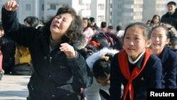 Жители КНДР оплакивают Ким Чен Ира, 19 декабря 2011