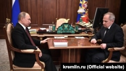 Путин с председателем Конституционного суда Зорькиным