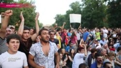"""Десятый день """"электропротестов"""" на проспекте Баграмяна в Ереване"""