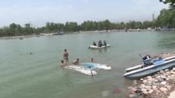 В Таджикистане из-за жары люди купаются в опасных водоемах и тонут