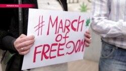 Маршем на Кабмин. Сторонники легализации требуют защитить права потребителей марихуаны