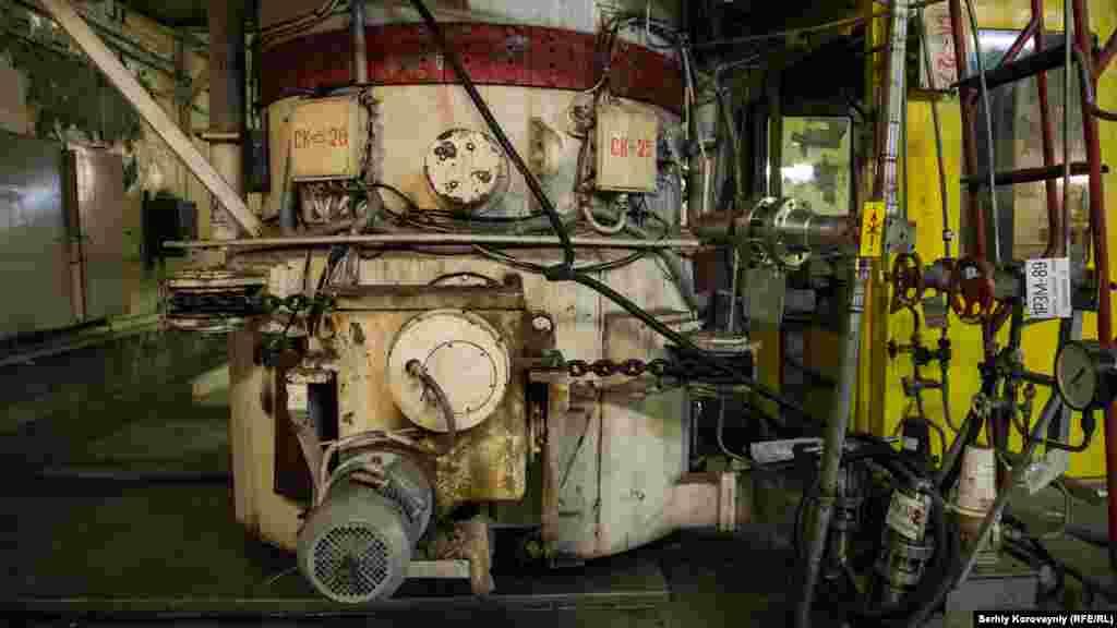 Насос в турбинном зале четвертого блока