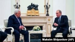 Махмуд Аббас на встрече с Владимиром Путиным
