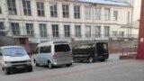 Belarus - Presumably siloviki bus seen near Nasha Niva's office during police raid, Minsk, 8jul2021