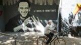 SWITZERLAND -- A graffiti of Aleksei Navalny by Swiss artists Julien Baro & Lud is pictured ahead of the June 16 summit in the Swiss city between U.S. President Joe Biden and Russian President Vladimir Putin in Geneva, June 14, 2021