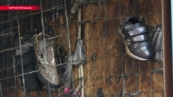 В Бишкеке снова сгорел один из павильонов Ошского рынка