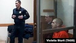 Дмитрий Кузнецов во время заседания суда по делу о его административном аресте 22 ноября