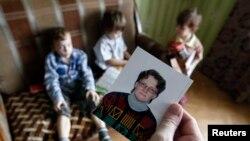 Семья жительницы Вязьмы Светланы Давыдовой, фото Reuters 30 января 2015 г