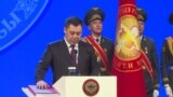 Как Садыр Жапаров вступал в должность президента Кыргызстана