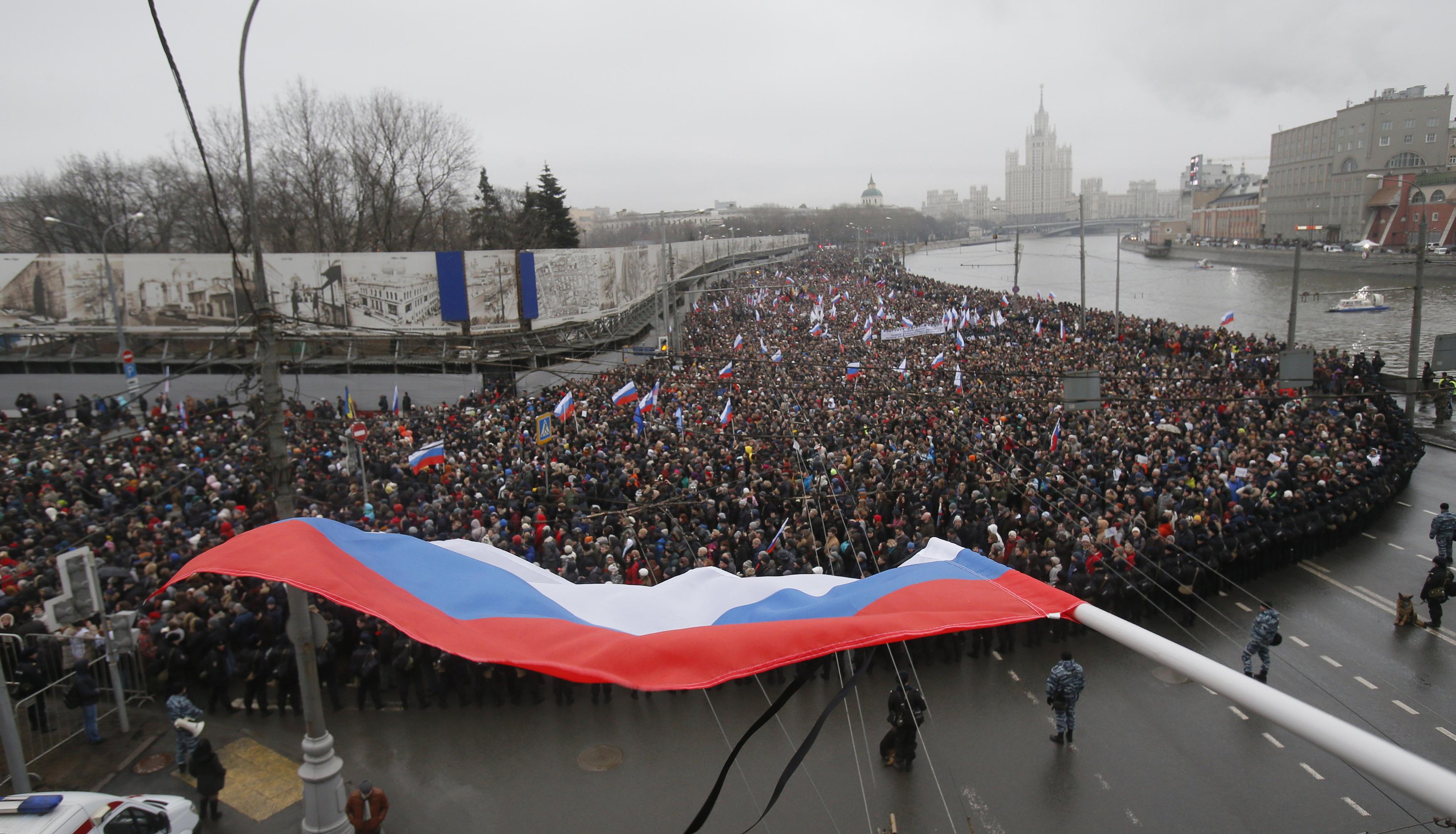 Марш памяти Бориса Немцова в Москве 1 марта 2015 года. Фото: Reuters
