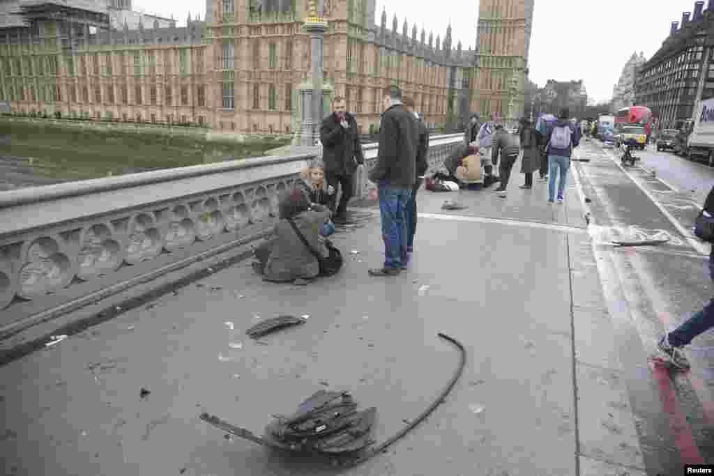 Вестминстерский мост после нападения