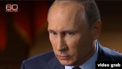 Путин дает интервью журналисту CBS Чарли Роузу в преддверии поездки в Нью-Йорк на Ассамблею ООН