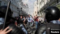 Протесты в поддержку независимых кандидатов в Мосгордуму 27 июля в Москве