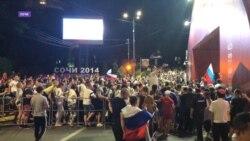 В Сочи многих болельщиков не пустили в фан-зону на чемпионат Россия-Египет