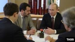 """Путин с Маттео Сальвини из """"Лиги Севера"""""""