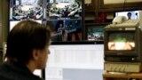 Latvia -- A Russian-language Pervy Baltiysky Kanal (PBK) technician supervises the broadcast of Russia's TV content in Riga, January 26, 2015