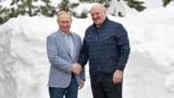 RUSSIA -- Russian President Vladimir Putin meets with his Belarusian counterpart Alyaksandr Lukashenka in Sochi February 22, 2021 - TASS