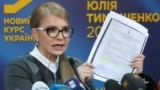 UKRAINE -- Former Ukrainian Prime Minister Yulia Tymoshenko speaks during her press conference in Kyiv, March. 7, 2019