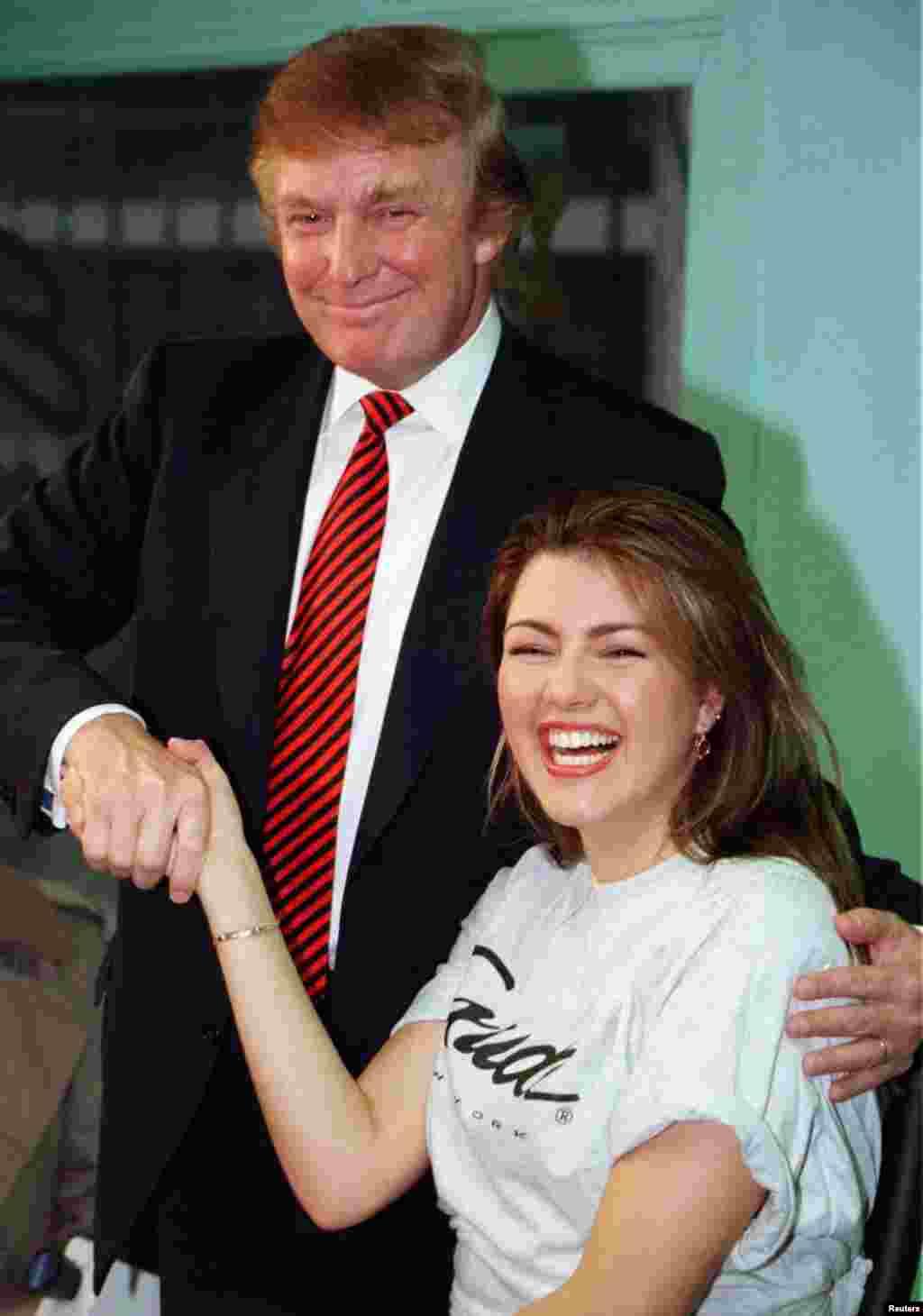 Трамп стал директором конкурса Мисс Вселенная в 1996 году. Алисия Мачадо, выигравшая конкурс в том году, позже заявила, что Трамп запугивал и оскорблял ее