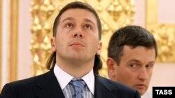 """Совладелец """"Евросети"""" Евгений Чичваркин на приеме в Кремле, сентябрь 2008 года"""