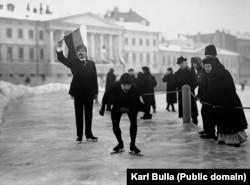 Конькобежец. Санкт-Петербург, начало 1900-х