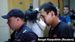 Анарбек Чингиз, обвиняемый в наезде на толпу пешеходов в центре Москвы 16 июня
