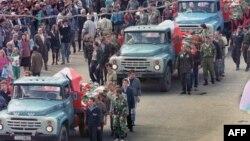 Похороны погибших в ночь на 21 августа в Москве, 24 августа 1991