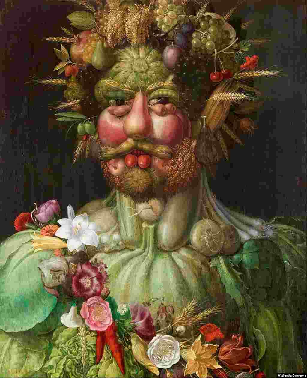 Произведения искусства из еды – далеко не новшевство XXI века. Итальянский живописец Джузеппе Арчимбольдо додумался до этого еще в XVI веке. Большинство его картин – композиции из еды и обыденных вещей, которые складываются в портреты и пейзажи