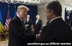 Дональд Трамп и Петр Порошенко в Вашингтоне 21 сентября 2017 года