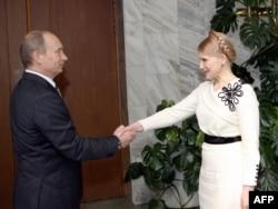 Владимир Путин и Юлия Тимошенко, Москва, апрель 2009