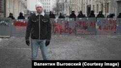 Валентин Выговский на Майдане в Киеве