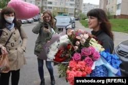 TUT.by journalist Katsyaryna Barysevich was released from prison in Homel, Belarus on May 19, 2021.