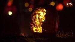 Трамп-тыквенная голова: под Вашингтоном идет фестиваль светящихся тыкв