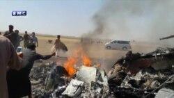 Видео с места падения российского Ми-8