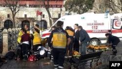 Взрыв в стамбульском районе Султанхамет 12 января