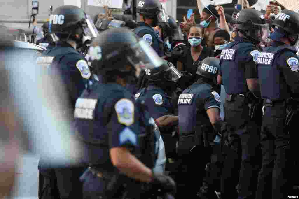 Полицейские в Вашингтоне, 31 мая 2020