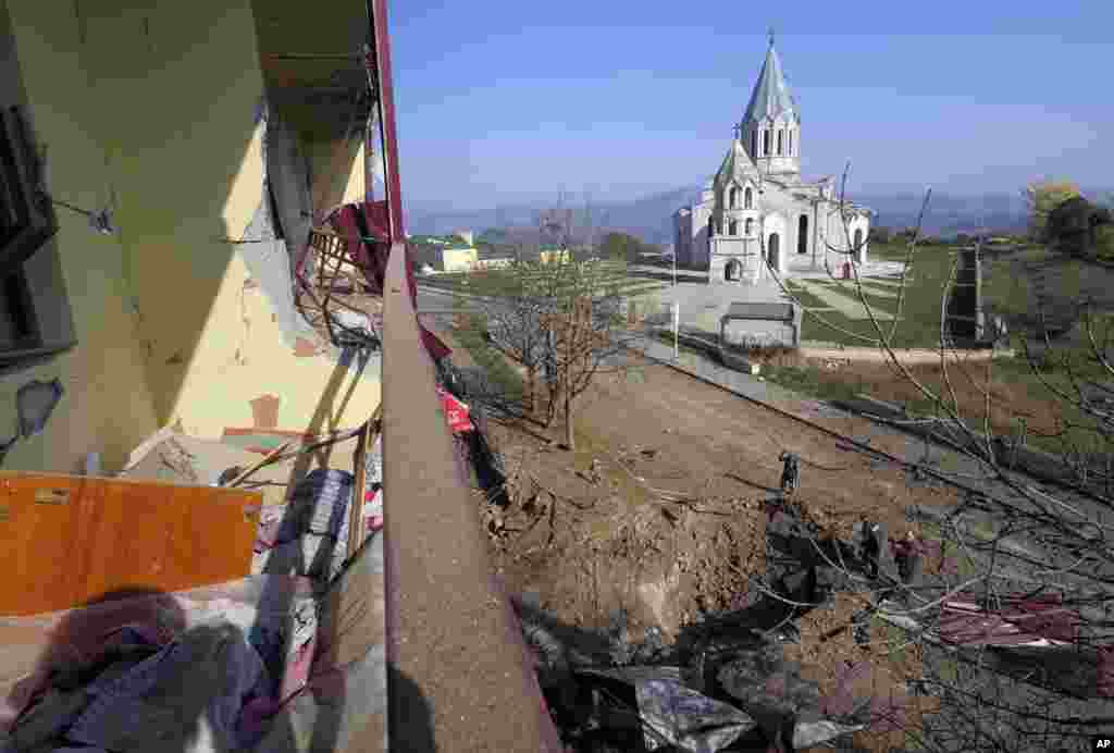 Azerbaijan has pledged that it will investigate the shelling of Shushi's (Shusha's) Holy Savior Cathedral, the town's main Armenian Apostolic church. Baku rejects media claims that religion plays any role in the latest round of fighting over Karabakh, but local residents who see the cathedral as a symbol of Karabakh are not reassured.